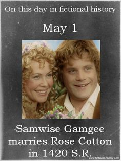 Samwise Gamgee marries Rose Cotton