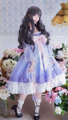Robes Serrées, Kawaii Fashion, Harajuku Fashion, Lolita Fashion, Cute Fashion, Cosplay Girls, Lolita Cosplay, Pretty Outfits, Cute Outfits