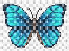 Butterfly Hama Beads pattern http://mistertrufa.net/librecreacion/culturarte/?p=12