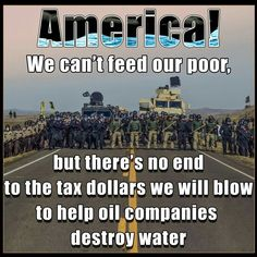 Making money for Big Oil and other corporations is apparently more important than the people this country was supposed to exist to protect.