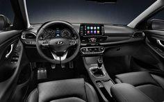 Hämta bilder Hyundai i30 Fastback, 2018, interiör, nya i30 inredning, Koreanska bilar, listpris, Hyundai