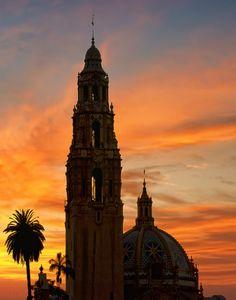 Balboa Park, San Diego, California ... magnificent sunset!