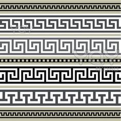 i love watermarks. greek geometric pattern