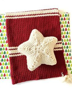 Star Throw Pillow Crochet PATTERN Holiday Christmas | Etsy