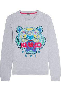 4a9c2c988a0 KENZO - Sweat en coton brodé Tiger
