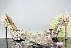 52e7beeb92cda2 Aliexpress.com   Buy New Handmade Sexy Gold Swarovski Crystal platform pumps  with Matching Clutch. Gold Wedding ShoesCrystal ...