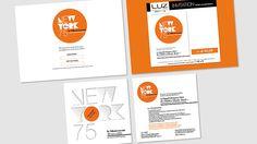 Mailing adressé et landing page d'inscription en ligne à l'événement NEW YORK 75 pour LUZ optique, par Agence 100%