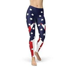 7af123533d American Flag Leggings Stars and Stripes 4th of July Legg... https:/