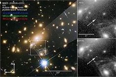 A team of researchers said they discovered the farthest star ever seen in an image provided, in part, by the Hubble Space Telescope, according to a study published in Nature Astronomy. James Webb Space Telescope, Hubble Space Telescope, Rogue Planet, Neutron Star, Computer Basics, Hubble Images, Andromeda Galaxy, Big Bang, Light Year