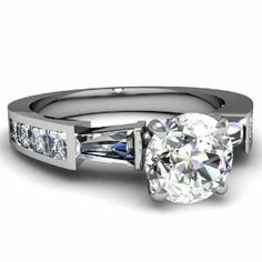 Ornamental Trinity 1.7 Ct Round Ideal Cut Diamond Enagement Ring Channel Set VS2 14K by Fascinating Diamonds