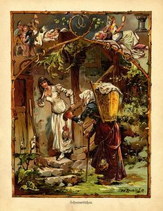german folk tales | Tale and Fantasy Art / Snow White ~ from a book of German fairy tales ...