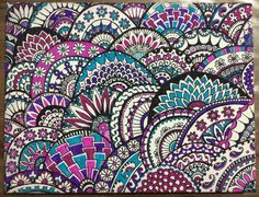 Multicoloured Paisley Pattern Canvas  20 x 26cm. by CalmBlueOcean, $35.00