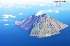The active volcano of Stromboli, part of the Aeolian islands located off the coast of Sicily, Italy @kissfromitaly