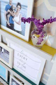 Love the painted ikea ledges... sarah m. dorsey designs: Home Tour