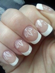 French Manicure style nail stamp
