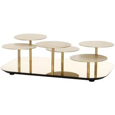 Moroso Phoenix Coffee Table With Metal Pedestal Base & Various Color