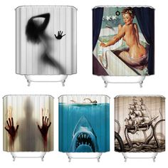 Sale 3D Polyester Digital Shower Curtain Bloody Bathroom Shower Curtian 180x180cm #Polyester #Digital #Shower #Curtain #Bloody #Bathroom #Curtian #180x180cm