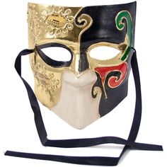 El Medico Mask: Black, Red & Green Image