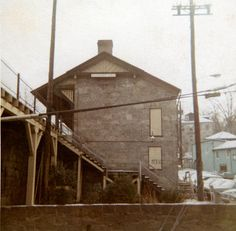 The Baltimore and Ohio railroad station in Historic Ellicott City about 1970