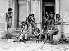 New York City Gangs 70s   Bronx gang squatting in abandoned building