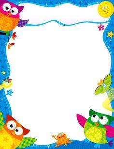 34 Free borders and frames - Aluno On Boarder Designs, Page Borders Design, Borders For Paper, Borders And Frames, Binder Cover Templates, School Border, Printable Border, Owl Clip Art, Photo Frame Design