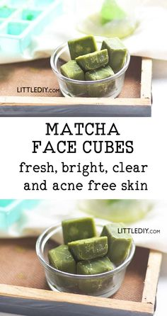 MATCHA GREEN TEA FACE CUBES for glowing skin Green tea is great for beautiful skin, hair and overall health. Did you know that powdered green tea also called as matcha is comparatively richer in antioxidants and other health and beauty benefits? Face Skin Care, Diy Skin Care, Skin Care Tips, Organic Skin Care, Natural Skin Care, Organic Facial, Natural Beauty, Green Tea Face, Skin Care Routine For 20s