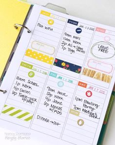 Life Documented Planner Goals and Plans with Nancy Damiano   Simple Stories