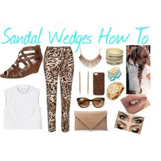 """Sandal Wedges How To"" by yoshi11419 on Polyvore"