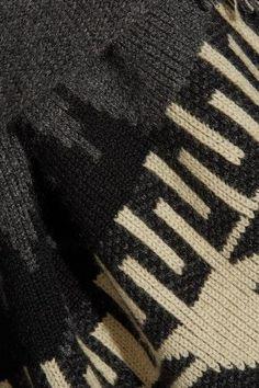 Alanui - Fringed Jacquard-knit Cashmere Cardigan - Gray - x small