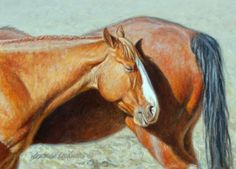 Got Your Back 5x7, painting by artist George Lockwood