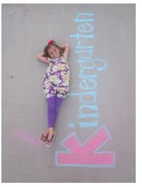 "Repinned: Chalked ""First day of School"" Pictures  My youngest is starting Kindergarten this year, totally love the outfit & photo background! :-) @Kohl's"