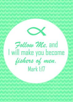 Mark 1:17 � Scripture Printable and Screen Saver