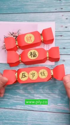 Chinese New Year Crafts For Kids, Chinese New Year Party, Chinese New Year Decorations, Chinese Crafts, New Years Decorations, Paper Decorations, Instruções Origami, Paper Crafts Origami, Diy Paper