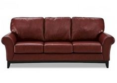 Rustic modern leather couch