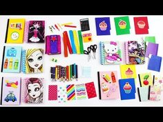How to make DOLL SCHOOL SUPPLIES, pencils,calculator,notebook,scissors,etc - Easy Doll Crafts - YouTube