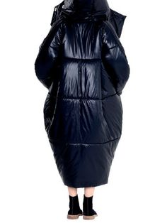 Long Sleeve Cocoon Hoodie Solid Down Coat With Pockets