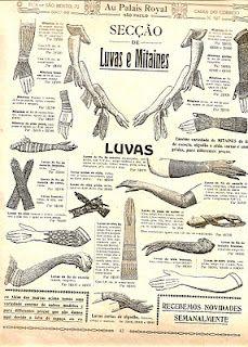 luvas - Catalogo Loja Armazem Au Palais Royal coleção 1910 e 1911