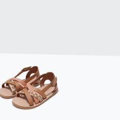 Image 5 of SANDAL WITH COMBINED STRAPS from Zara