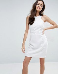 ADELYN RAE BODYCON DRESS - WHITE. #adelynrae #cloth #