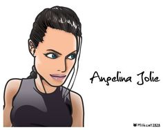 アンジェリーナ・ジョリー(Angelina Jolie )の似顔絵