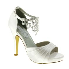 silver shoe with rhinestone#prom