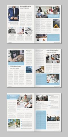 Indesign newsletter template formatted in 14 pages useful for any purpose. Newsletter Design Templates, Newsletter Layout, Email Newsletter Design, Layout Template, Newsletter Ideas, Brochure Layout, Brochure Design, Magazine Examples, Case Study Design