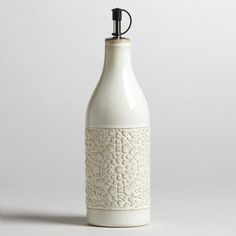 One of my favorite discoveries at WorldMarket.com: Ivory Ceramic Venetian Oil Bottle