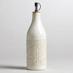 One of my favorite discoveries at WorldMarket.com: Ivory Ceramic Venetian Oil Bottle