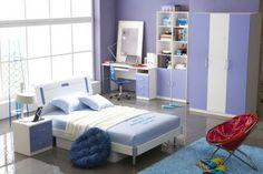 diseño de habitación color lavanda