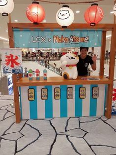 Neko Atsume Kitty Collector Drink Stall Harbour City