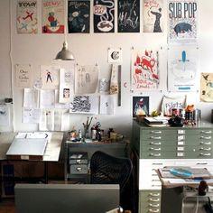 Office clutter.