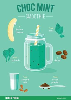 Green Smoothie Recipes 542050505151844472 - Looking for healthy dessert recipes? Chocolate mint smoothies can taste as amazing as a milkshake, but still fuel your body with healthy foods like bananas, mint and chocolate. Have you tried it? Milk Shakes, Apple Smoothies, Healthy Smoothies, Healthy Drinks, Healthy Foods, Detox Drinks, Dinner Healthy, Healthy Milkshake, Healthy Dessert Recipes
