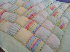 Bubble Puff Quilt for Baby's Tummy Time by LuvinKatie on Etsy, $125.00