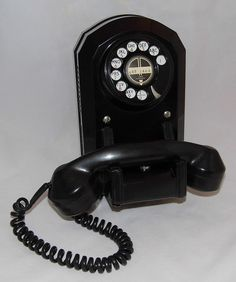 Vintage Western Electric L5000 AO Bakelite Rotary Dial Wall Mount Telephone…